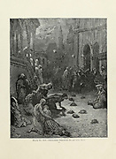 Crusaders throwing heads into Nice [Nicea, Nicaea During the siege and battle in the First Crusade] Plate XIV from the book Story of the crusades. with a magnificent gallery of one hundred full-page engravings by the world-renowned artist, Gustave Doré [Gustave Dore] by Boyd, James P. (James Penny), 1836-1910. Published in Philadelphia 1892