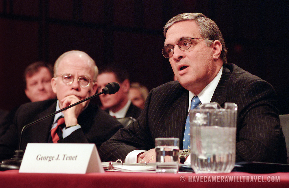 George Tenet, Director of the CIA, testifying at the 9/11 Commission's Public Hearing Number 8 on Wednesday, 24 March 2004.
