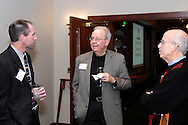 (from left) Mike Kurtz of the UD Media Production Group, John Spain and Fred Tuzzi during the holiday meeting of the American Advertising Federation at the NCR Country Club in Kettering, Thursday, December 15, 2011.