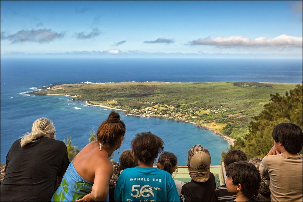 Field trip to the Kalaupapa Lookout on Molokai.