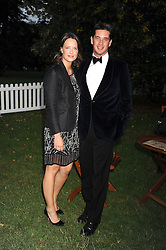 ARABELLA MUSGRAVE and the HON.JAMES TOLLEMACHE at the Royal Parks Foundation Summer Party hosted by Candy & Candy on the banks of the Serpentine, Hyde Park, London on 10th September 2008.