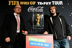 Zoran Markov and Jure Uranjek of TAO Turizem at VIP reception of FIFA World Cup Trophy Tour by Coca-Cola, on March 29, 2010, in BTC City, Ljubljana, Slovenia.  (Photo by Vid Ponikvar / Sportida)