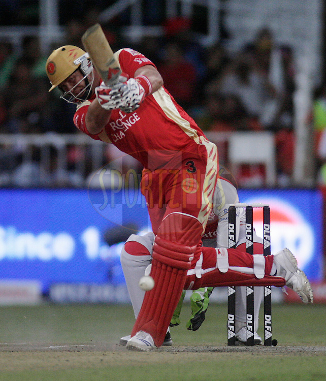 DURBAN, SOUTH AFRICA - 1 May 2009. Jacques Kallis plays a shot during the IPL Season 2 match between Kings X1 Punjab and the Royal Challengers Bangalore held at Sahara Stadium Kingsmead, Durban, South Africa...