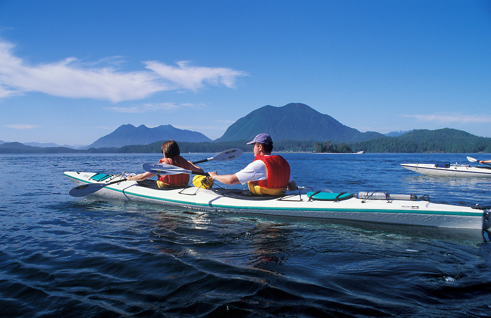 Clayoquot Sound kayak tour with Tofino Sea Kayaking Company; Vancouver Island, British Columbia.