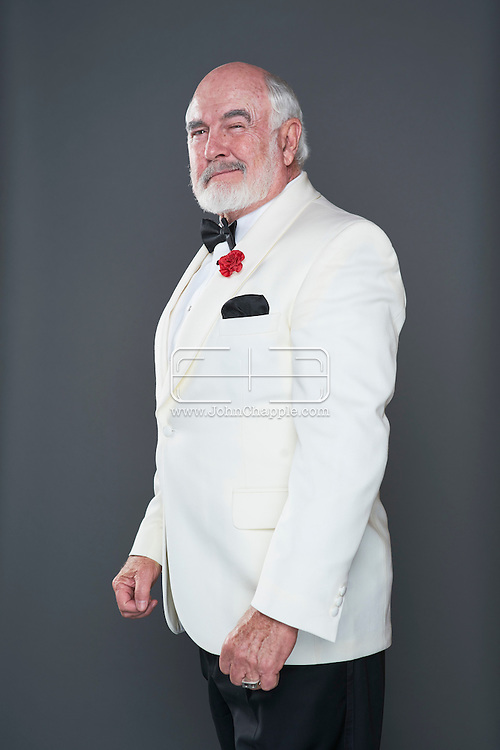 February 22, 2016. Las Vegas, Nevada.  The 22nd Reel Awards and Tribute Artist Convention in Las Vegas. Celebrity lookalikes from all over the world gathered at the Golden Nugget Hotel for the annual event. Pictured is Sean Connery lookalike, Dennis B. Keogh.<br /> Copyright John Chapple / www.JohnChapple.com /