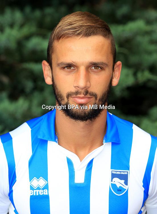 Italian League Serie A -2016-2017 / <br /> ( Delfino Pescara Calcio 1936 ) - <br /> Dario Zuparic