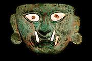 PERU, PRECOLUMBIAN Mochica, feline deity mask