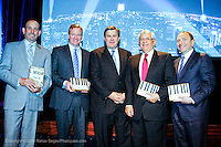 Don Garber MLS commissioner, Roger Goodell NFL commissioner, Tim Leiweke President and CEO of AEG, David Stern NBA commissioner and Gary Bettman NHL commissioner attend City of Hope's Man of the Year Awards at which Tim Leiweke was honored as man of the year at The Nokia Theater Times Square on May 28, 2009.