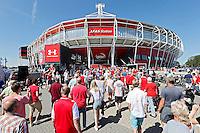 ALKMAAR - 09-08-2015, AZ - Ajax, AFAS Stadion, 0-3, supporters. prachtstad