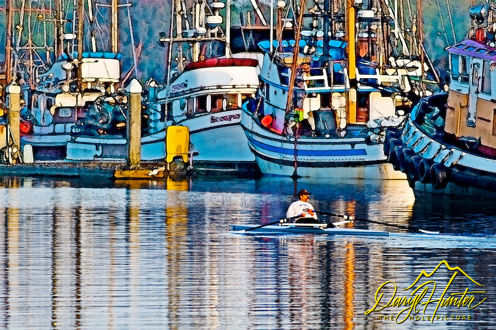 Skull, rowing, humboldt bay, North Coast California