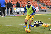 Bristol Rovers Midfielder, Liam Sercombe (7) warms up during the EFL Sky Bet League 1 match between Blackpool and Bristol Rovers at Bloomfield Road, Blackpool, England on 3 November 2018.