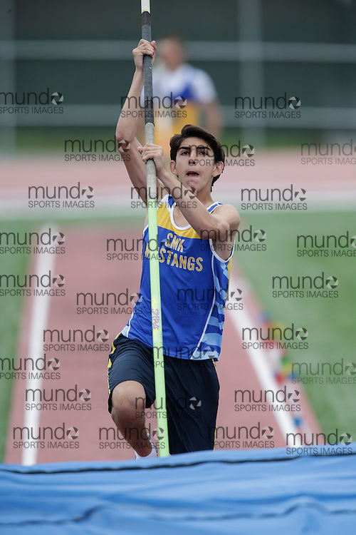 of  competes at the 2013 OFSAA Track and Field Championship in Oshawa Ontario, Friday,  June 7, 2013.<br /> Mundo Sport Images/ Geoff Robins