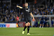 Adam Webster (15) of Brighton and Hove Albion during the EFL Cup match between Bristol Rovers and Brighton and Hove Albion at the Memorial Stadium, Bristol, England on 27 August 2019.