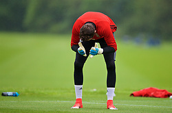 CARDIFF, WALES - Saturday, June 10, 2017: Wales' goalkeeper Daniel Ward during a training session at the Vale Resort ahead of the 2018 FIFA World Cup Qualifying Group D match against Serbia. (Pic by David Rawcliffe/Propaganda)