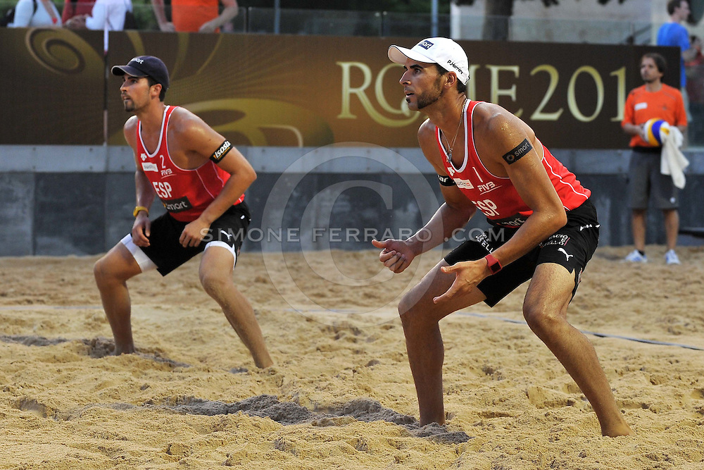 Roma, 14/06/2011..Swatch World Championships Rome2011. Foro Italico..Herrera-Gavira ESP Semenov-Koshkarev RUS.Foto Simone Ferraro - GMT