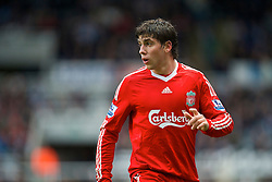 NEWCASTLE, ENGLAND - Sunday, December 28, 2008: Liverpool's Emiliano Insua in action against Newcastle United during the Premiership match at St James' Park. (Photo by David Rawcliffe/Propaganda)