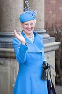 14.04.11. Copenhagen, Denmark..Queen Margrethe's II leaves the Holmens Church after christening ceremony..Photo: Ricardo Ramirez