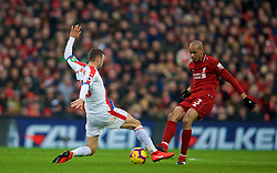 LIVERPOOL, ENGLAND - Saturday, January 19, 2019: Liverpool's Fabio Henrique Tavares 'Fabinho' (R) during the FA Premier League match between Liverpool FC and Crystal Palace FC at Anfield. (Pic by David Rawcliffe/Propaganda)