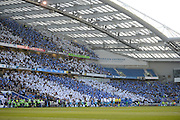 The American Express Community Stadium before the Sky Bet Championship play-off second leg match between Brighton and Hove Albion and Sheffield Wednesday at the American Express Community Stadium, Brighton and Hove, England on 16 May 2016. Photo by David Charbit.