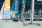 three of the Extreme Sailing Series regatta being sailed in Singapore. 22/2/2014
