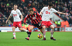 Ryan Fraser of Bournemouth battles for the ball with Pierre-Emile Hojbjerg of Southampton - Mandatory by-line: Alex James/JMP - 18/12/2016 - FOOTBALL - Vitality Stadium - Bournemouth, England - Bournemouth v Southampton - Premier League