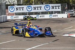 March 8, 2019 - St. Petersburg, Florida, U.S. - ALEXANDER ROSSI (27) of the United States goes through the turns during practice for the Firestone Grand Prix of St. Petersburg at Temporary Waterfront Street Course in St. Petersburg, Florida. (Credit Image: © Walter G Arce Sr Asp Inc/ASP)