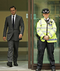 David Cameron's Former Spin Doctor  Andy Coulson leaves Westminster Magistrates court, August 16, 2012. Photo By Shaun Curry/ i-Images