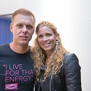 NLD/Amsterdam/20170202 - Armin van Buuren opent eigen A State Of Trance-radiostudio, Armin van Buuren en partner Erika van Thiel