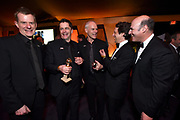 Graham Broadbent, from left, Peter Czernin, Martin McDonagh, Co-heads of production of FOX David Greenbaum, and Matthew Greenfield attend FOX 2018 Golden Globes After Party at The Beverly Hilton on Sunday, January 7, 2018, in Beverly Hills, Calif. (Photo by Jordan Strauss/JanuaryImages/Invision/AP)