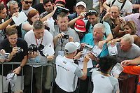 Kevin Magnussen (DEN) McLaren signs autographs for the fans.<br /> Italian Grand Prix, Thursday 4th September 2014. Monza Italy.
