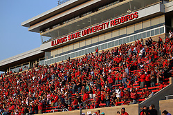 02 September 2017:  East grandstand crowd during the Butler Bulldogs at  Illinois State Redbirds Football game at Hancock Stadium in Normal IL (Photo by Alan Look)
