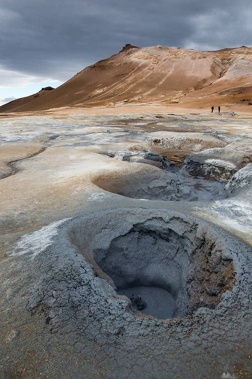 Mud-pools at the geothermal area of Hverir, near Lake Myvatn in Northern Iceland