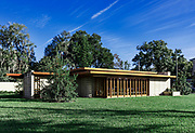 Usonian house designed by Frank Loyd Wright for Florida Southern College, Lakeland, Florida, USA