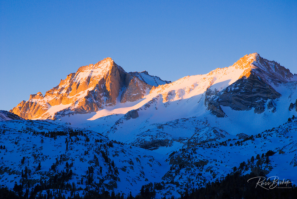 Morning light on Bear Creek Spire, Inyo National Forest, Sierra Nevada Mountains, California