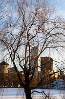 US, New York City, Central Park. Harlem Meer.