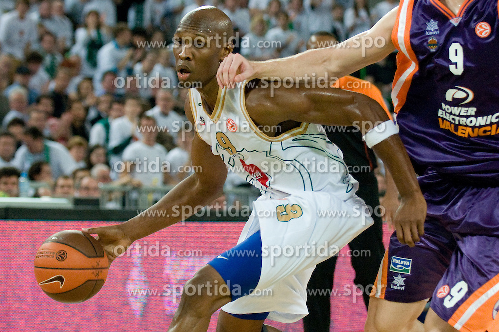 William Kendrick Gregory (9) of Olimpija during basketball match between KK Union Olimpija (SLO) and Power E. Valencia (SPA) in Group D of Turkish Airlines Euroleague, on November 17, 2010 in Arena Stozice, Ljubljana, Slovenia. (Photo By Matic Klansek Velej / Sportida.com)