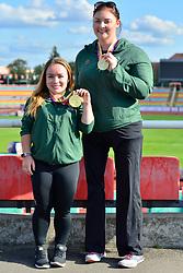 Paralympics Ireland Medalists Niamh McCarthy, F41, IRE, Orla Barry, F57 at the Berlin 2018 World Para Athletics European Championships