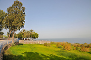 Cityscape of Tiberias, Israel with the shores of the Sea Of Galilee