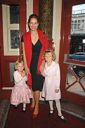 DARCEY BUSSELL with her daughters left, ZOE and right PHOEBE at a children's ballet workshop and tea party to celebrate the world premiere of 'Angelina's Star Performance' Angelina Ballerina's first real life ballet hosted by the National Ballet at the New Wimbledon Theatre, London SW19 on 6th September 2007.<br />