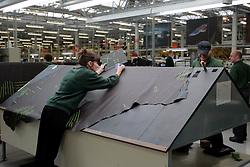 UK ENGLAND CREWE 5APR06 - Leather trim being prepared on the production line at the Bentley Factory in Crewe...jre/Photo by Jiri Rezac..© Jiri Rezac 2006..Contact: +44 (0) 7050 110 417.Mobile:  +44 (0) 7801 337 683.Office:  +44 (0) 20 8968 9635..Email:   jiri@jirirezac.com.Web:    www.jirirezac.com..© All images Jiri Rezac 2006 - All rights reserved.
