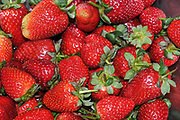 Fresh strawberry healthy snack