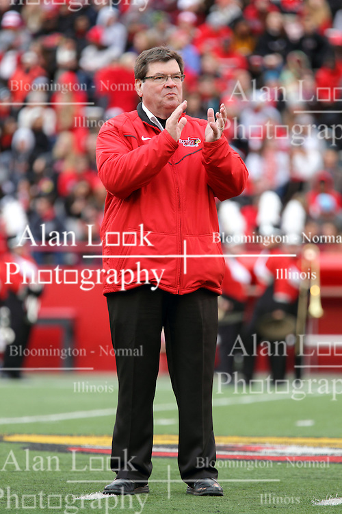 04 October 2014: ISU President Larry Dietz during an NCAA FCS Missouri Valley Football Conference game between the South Dakota State Jackrabbits and the Illinois State University Redbirds at Hancock Stadium in Normal Illinois