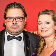 NLD/Amsterdam/20161221 - NOC*NSF Sportgala 2016, Danny Nelissen en partner Rachel