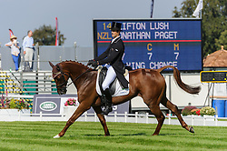 Land Rover Burghley Horse Trials. <br /> Jonathan Paget and CLIFTON LUSH during the Dressage phase, Burghley House, Stamford, UK, Thursday, 5th September 2013. Picture by Nico Morgan / i-Images.