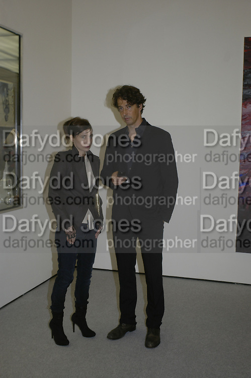 Josephine Meckseper and Richard Phillis, USA Today. Saatchi Gallery and The Royal academy of Arts. Piccadilly. London. 5 October 2006. -DO NOT ARCHIVE-© Copyright Photograph by Dafydd Jones 66 Stockwell Park Rd. London SW9 0DA Tel 020 7733 0108 www.dafjones.com