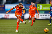 Luton Town midfielder Andrew Shinnie shoots towards the goal during the EFL Sky Bet League 1 match between Luton Town and Wycombe Wanderers at Kenilworth Road, Luton, England on 9 February 2019.