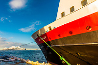 The Hurtigruten ship MS Versteralen docked in Alesund, Norway.