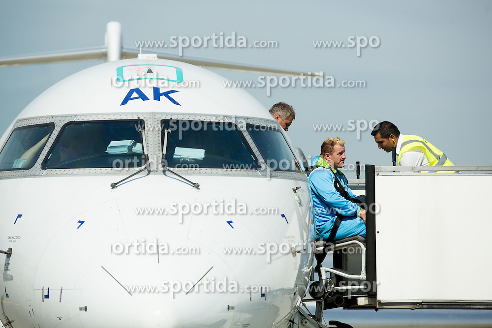 Henrik Plank of Team Slovenia at Airport in Frankfurt during way back to Airport Joze Pucnik after the London 2012 Paralympic Games on September 10, 2012, in Frankfurt, Germany. (Photo by Vid Ponikvar / Sportida.com)