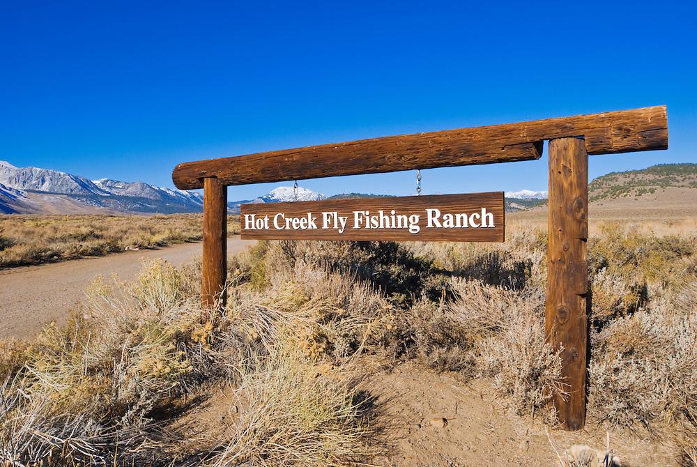 Hot Creek Fishing Ranch near Mammoth Lakes, eastern Sierra Nevada Mountains, California