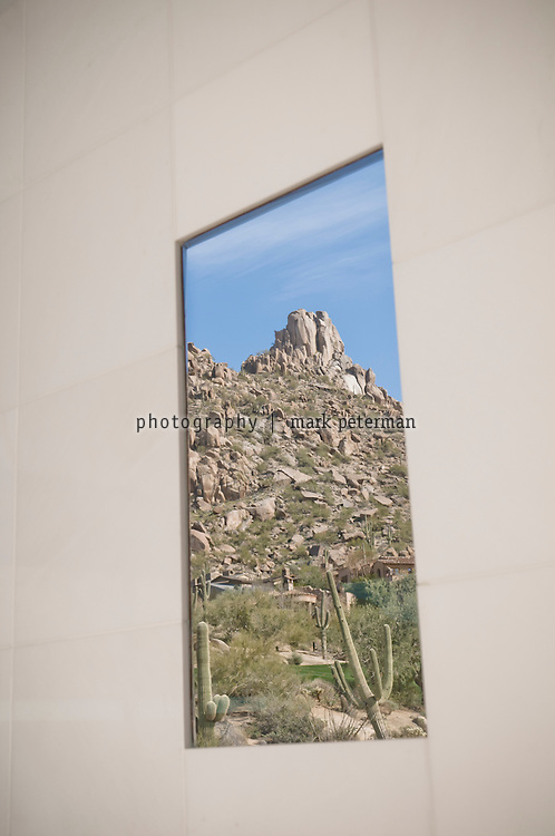 Scottsdale, AZ-Kent and VIcki Logan residence-03/03/11 View of Pinnacle Peak from  the master bathroom. Mark Peterman for The Wall Street Journal
